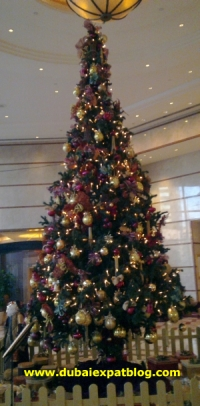 Christmas tree at Sheraton Dubai Creek