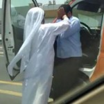 Emirati attacking Indian driver in Dubai 2