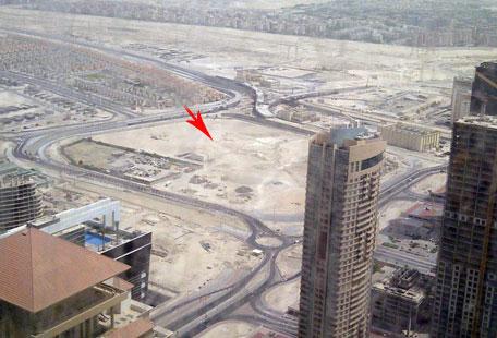 proposed site for Burj 2020 Dubai