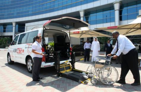 Aunik dedicated Dubai Taxi for hospitals