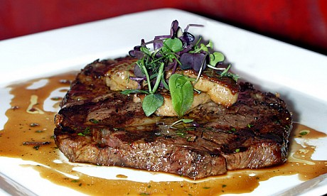 steak at the rib room dubai
