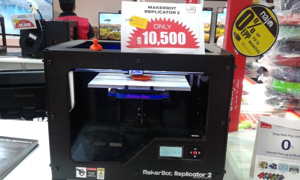 makerbot replicator 3d printer Gitex shoppers 2014