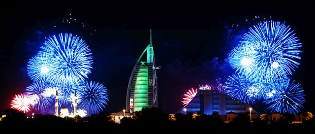 Dubai New Year Fireworks