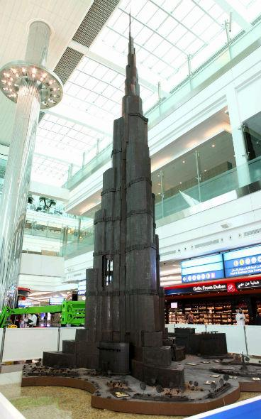 burj khalifa chocolate replica by Andrew Farrugia