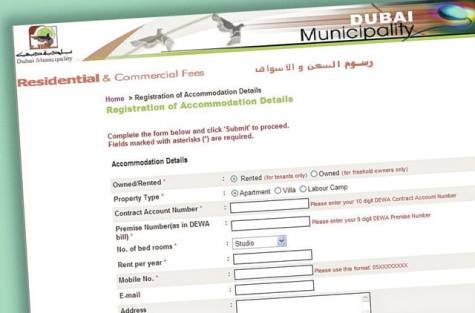 Dubai Municipality Housing Fee