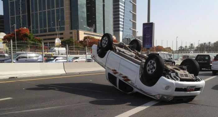 car accident in dubai