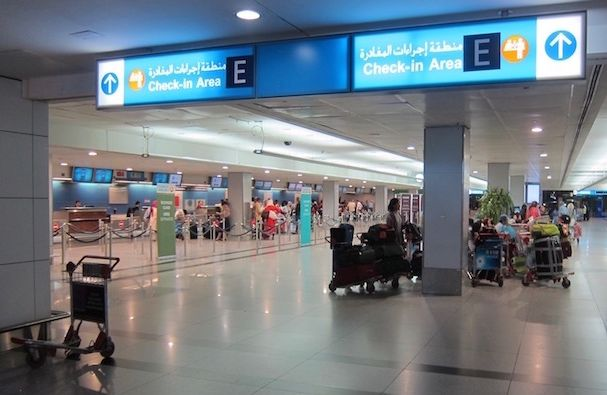 Dubai Airport limits hand carry luggage to 10 kgs only - Dubai Airport Terminal 3 Lounge