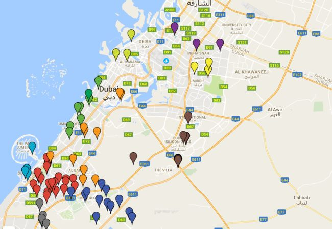 Ramadan Fridge Dubai Map