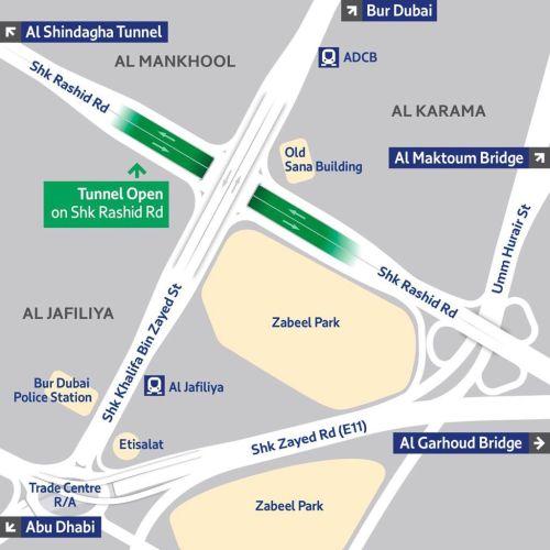 tunnel on Shaikh Rashid Street