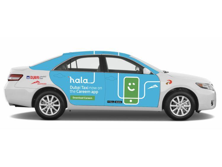 Hala Careem Dubai Taxi
