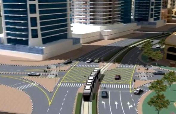 model of Al Sufouh Tram Dubai