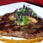 steak at the rib room dubai