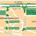 dubai international city flyovers